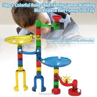 38pcs Funny Early Educational Interactive Play Building Block 3D Effect Roller Ball Brain Develop Family Games Slot Toy