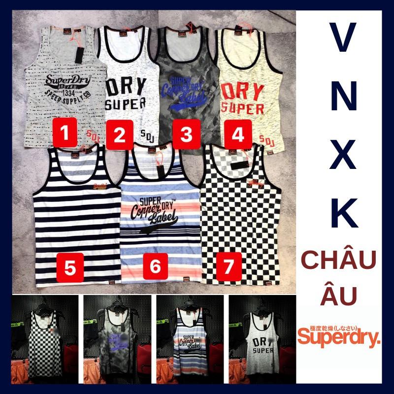 [FREESHIP] Áo thun ba lỗ/ áo tập gym/ áo mùa hè nam hiệu SuperDry vnxk châu âu xịn