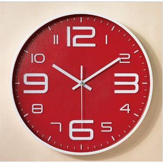 [SALE GIÁ HỦY DIỆT] Đồng hồ treo tường quartz cao cấp kim trôi Đỏ TN