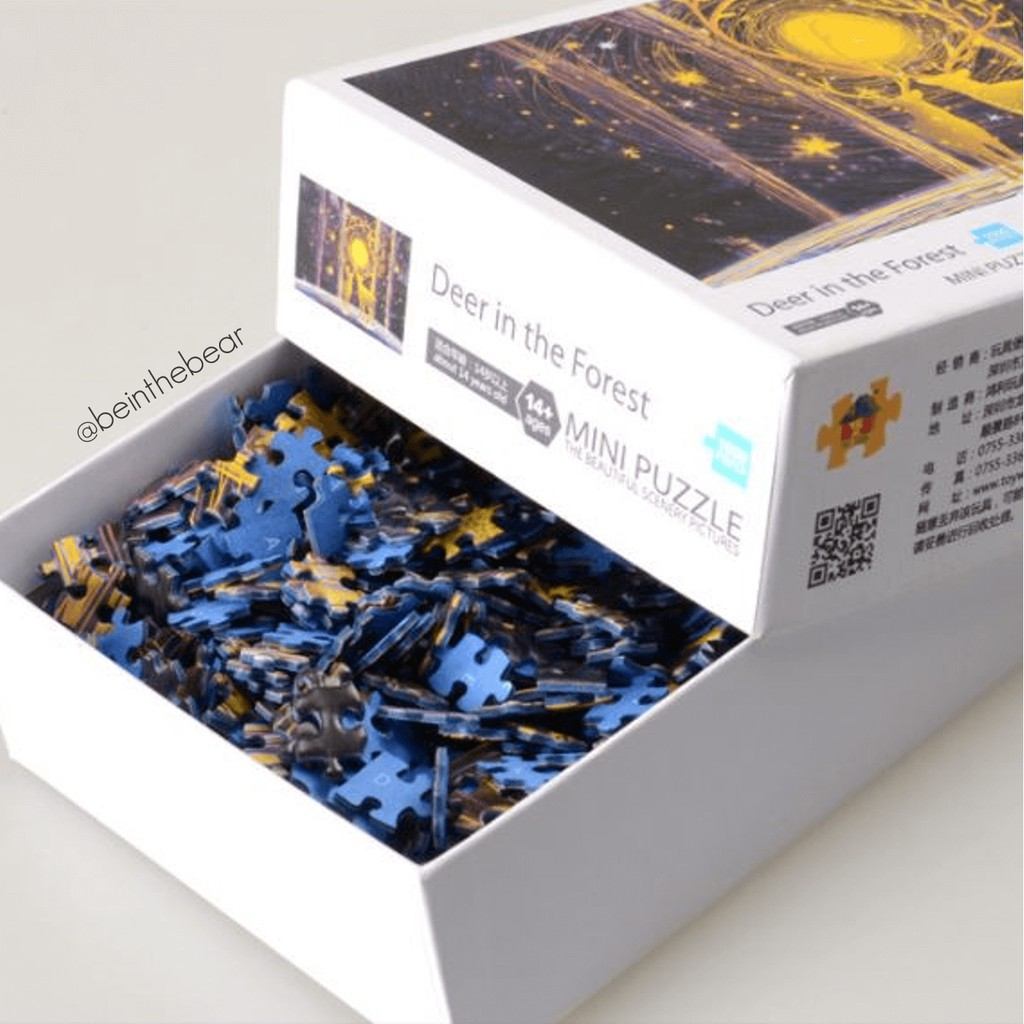 [Chính hãng Toy Town] Tranh ghép hình jigsaw thông minh phát triển trí tuệ 1000 miếng 42x30cm - Mẫu trơn