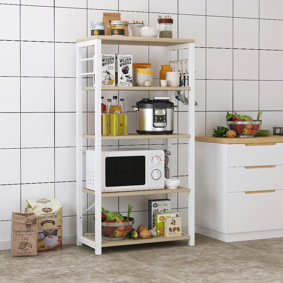 kệ nhà bếp giá để đồ 5 tầng cho bếp, phòng khách phòng ngủ, kệ bày lò vi sóng đa năng FU144W