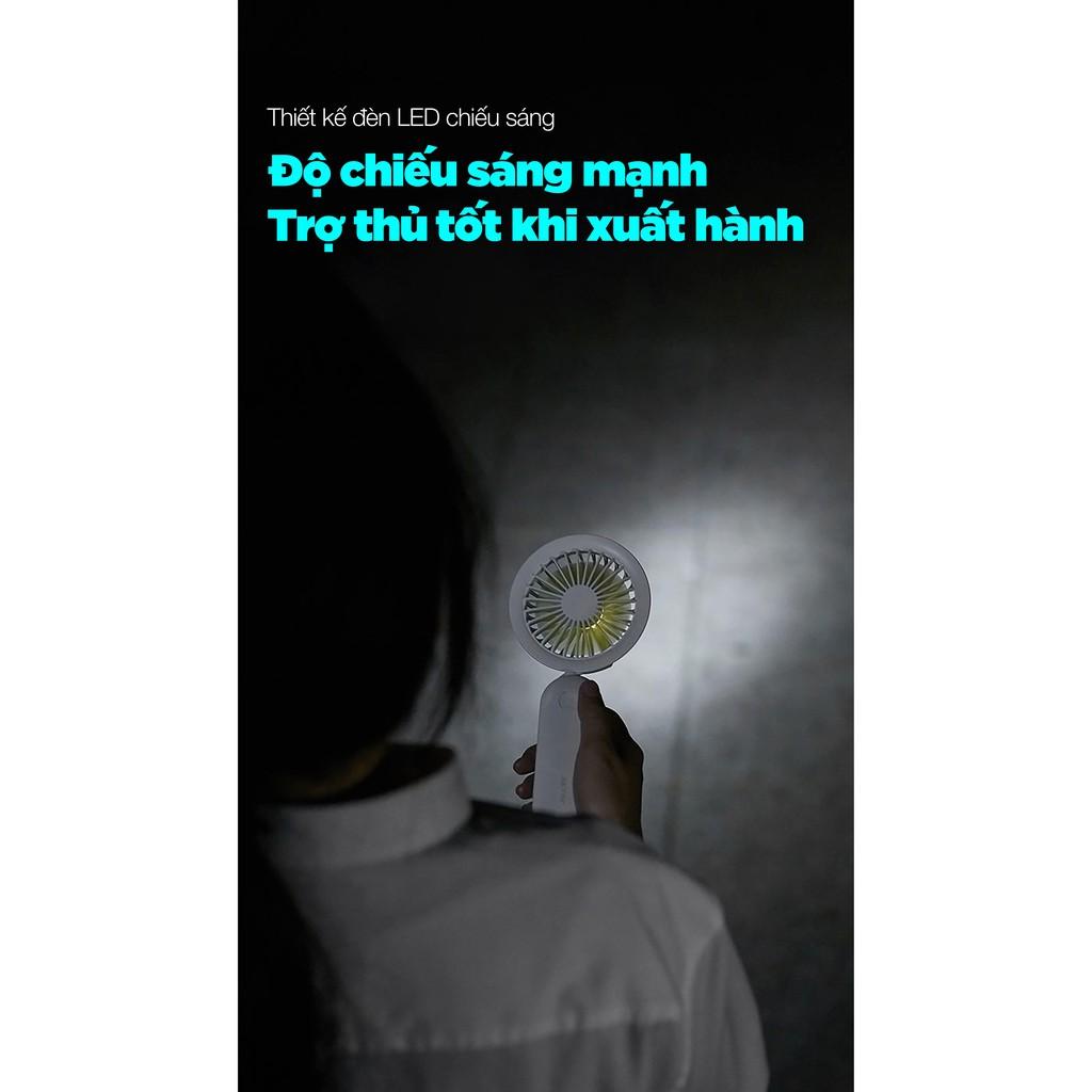 Quạt mini dây xoắn mini cho học sinh, quạt có thể định hình mọi hình dáng tích hợp đèn chiếc sáng, quạt vạn năng cho bé