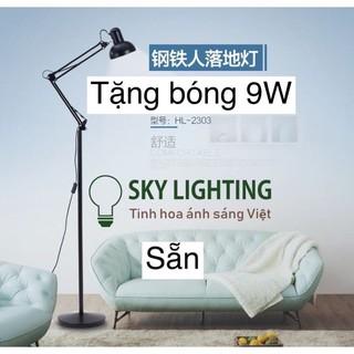 Đèn cây đứng Pixar trang trí phòng khách Tặng kèm bóng LED 9w ánh sáng 3000K đèn led đọc sách