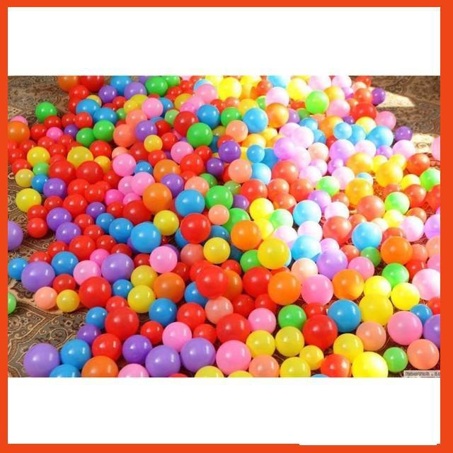 Bộ bóng cho bé chơi nhà bóng - bể bơi - Nhựa nhập Hàn Quốc - Sản xuất tại Việt...