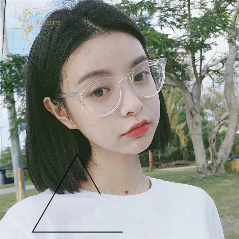 Roselife Korean Fashion Round Frame Clear Lens Eyeglasses Women men unisex Spectacles Eyewear
