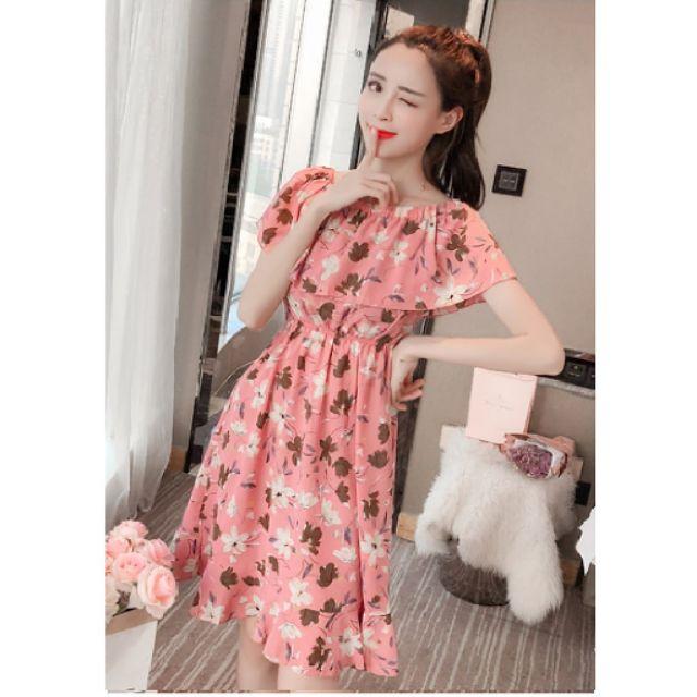 7505799133 - ( thanh lý )đầm hoa màu hồng S