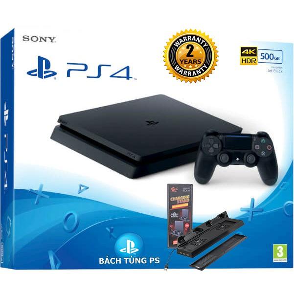 Máy chơi game Sony Ps4 slim CUH 2106 tặng kèm đế tản nhiệt +sạc tay cầm cao cấp