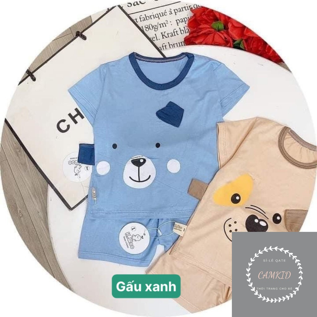 (Loại 1)Bộ Cộc Tay Thun Lạnh Mỏng Mát Hình ThúĐồ bộ bé trai⚡️FREESHIP⚡️ Quần áo trẻ emĐồ bộ bé gái