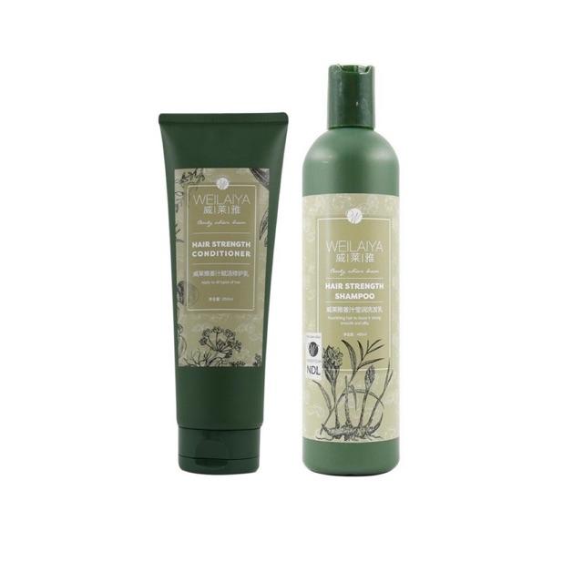 [ Tặng sét mini ] Bộ dầu gội dầu xả Weilaiya tinh chất gừng và hà thủ ô dành cho tóc rụng, tóc khô xơ và hư tổn