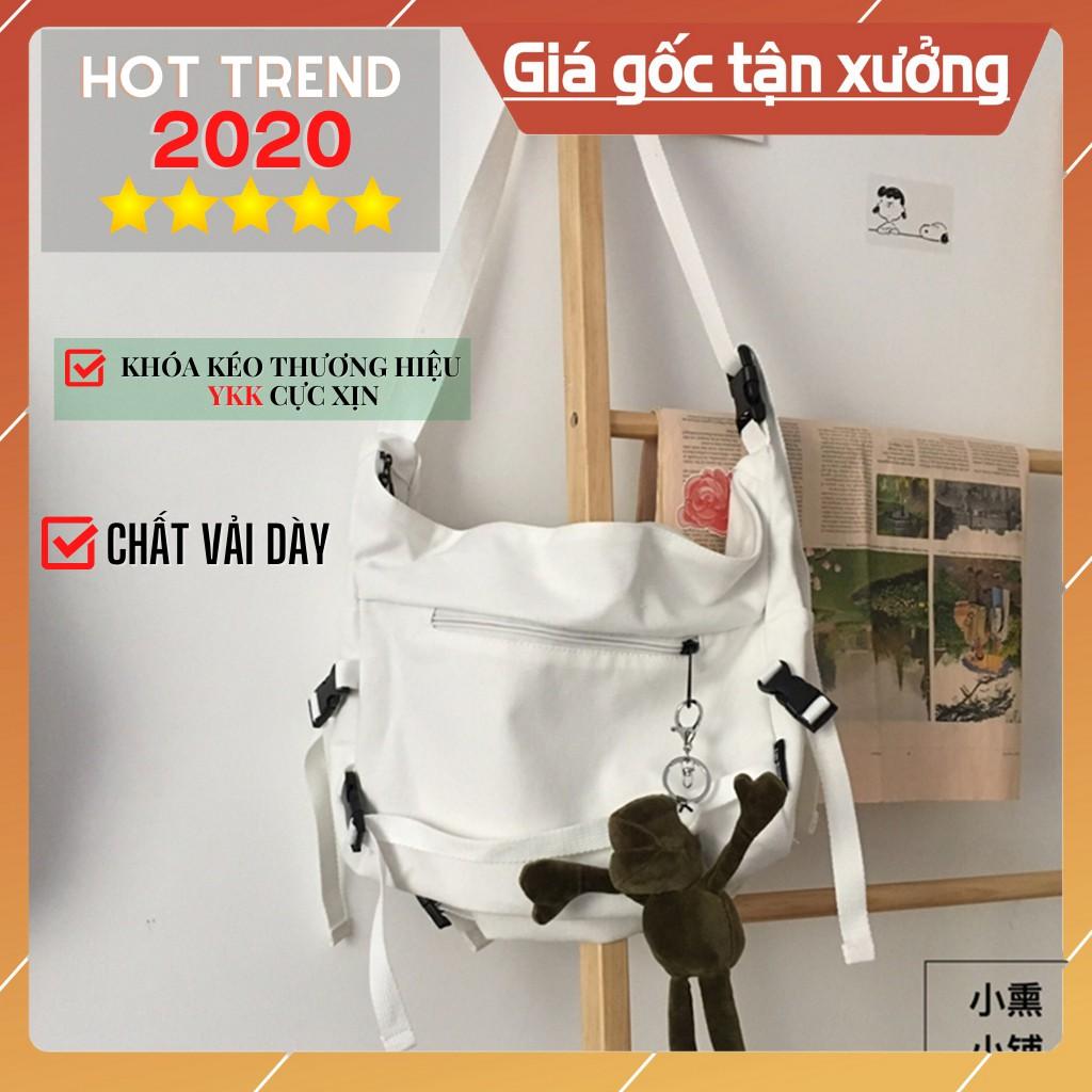 ⚡Camkết hàng xịn⚡ Túi Đeo Chéo Canvas Cỡ Lớn Thời Trang Hàn Quốc Học Sinh Sinh Viên