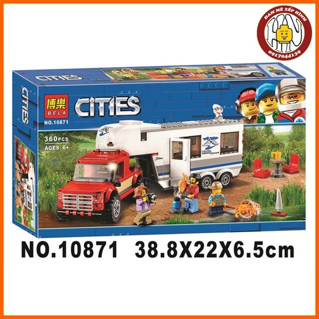 Đồ chơi xếp hình - Cities - Xe cắm trại