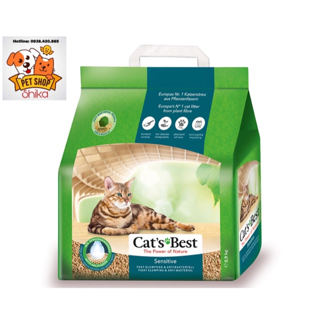 Cat'S Best Sensitive Cát Vệ Sinh Hữu Cơ Cho Mèo 8L