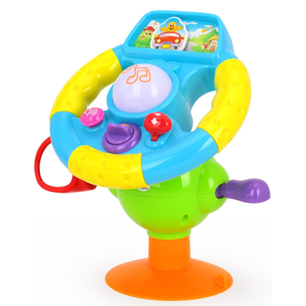 Boy Gift Baby Kid Girl Early Education Mini Driving Simulation Music Steering Wheel Toy