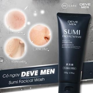 Sữa Rửa Mặt Deve Men Sumi Facial Wash Than Hoạt Tính Charcoal Dành Cho Nam (130g) thumbnail