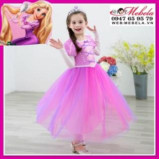 🎀 Váy công chúa Tóc mây Rapunzel cho bé