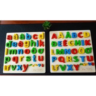 Bảng chữ cái gỗ nổi cái cấp cho bé
