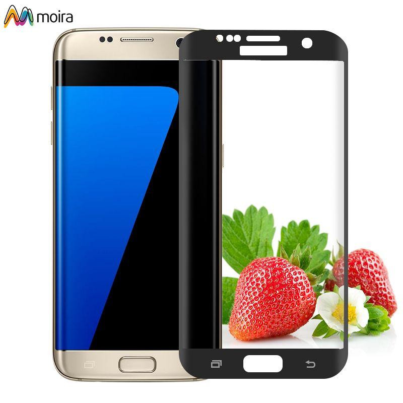 ☽ 9H Tempered Glass Curved Full Cover Screen protector For Samsung Galaxy S7 Edge Moira