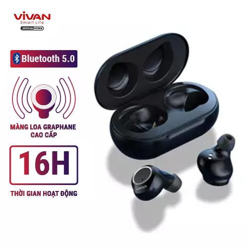Tai Nghe Không Dây True Wireless VIVAN LIBERTY T100 V5.0 Cảm Ứng - Âm Thanh Sắc Nét