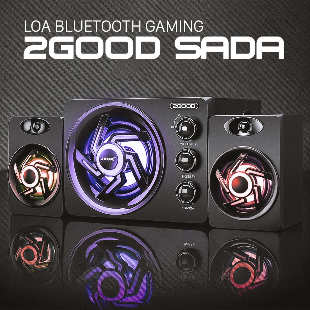 Loa Vi Tính Bluetooth Gaming 2GOOD-SADA Bass siêu trầm
