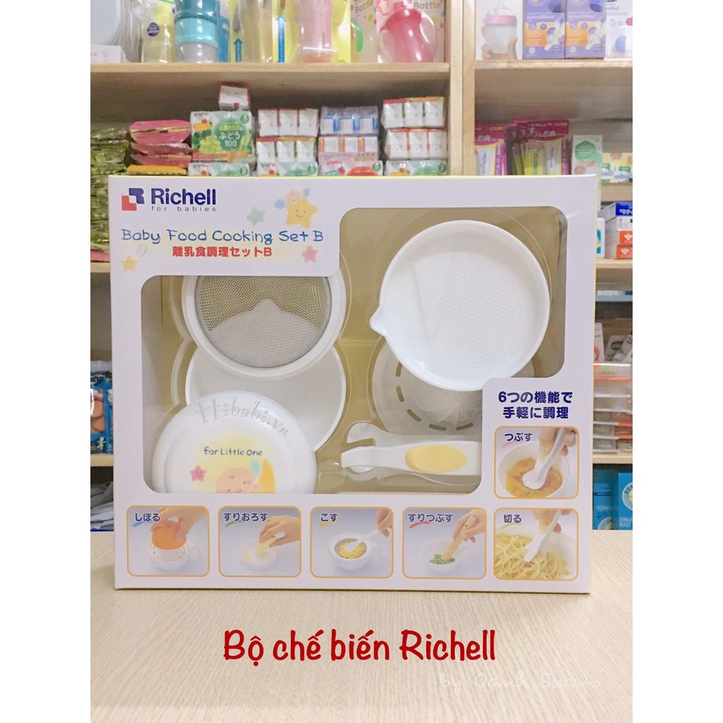Bộ chế biến ăn dặm Richell Nhật 8 món