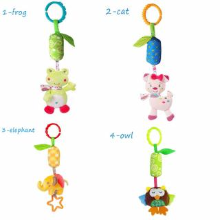 DIAOCHANO Cute Developmental Animal Musical Newborn Stroller Plush Toy