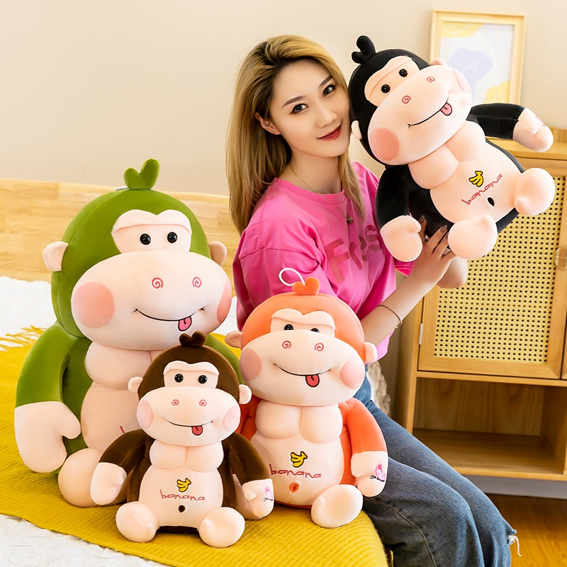 ◆cute gorilla doll plush toy pillow monkey girl doll doll lover birthday gift boy