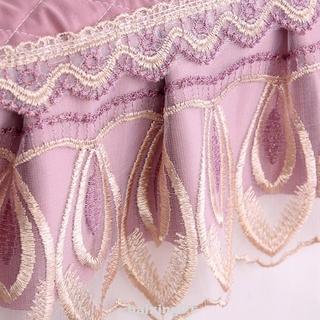 3pcs Floral Lace U Shaped Fabric Protect Warm Bathroom Soft Toilet Seat Cover Set