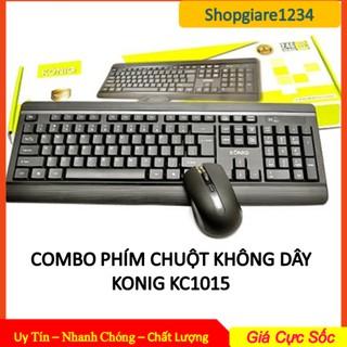 Bàn Phím + Chuột Không Dây KONIG KC1015 - Hàng Mới + Chính Hãng 100%- Bảo Hành 1 ĐỔI 1- FULL BOX thumbnail