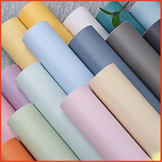 Yêu ThíchGiấy dán tường màu trơn pastel có sẵn keo khổ rộng 45 cm dài 10 mét / 1 cuộn(decal dán tường)