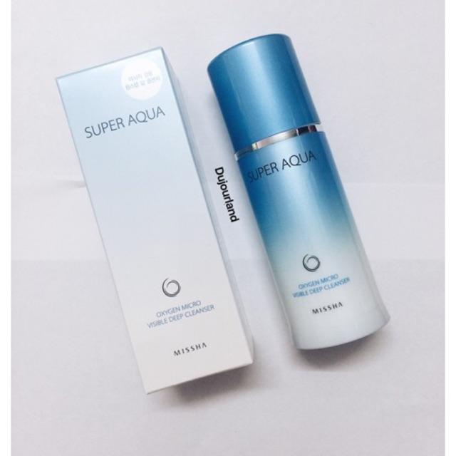 Sữa rửa mặt Super Aqua Oxygen Micro Visible Deep Cleanser - 2673839 , 268225814 , 322_268225814 , 270000 , Sua-rua-mat-Super-Aqua-Oxygen-Micro-Visible-Deep-Cleanser-322_268225814 , shopee.vn , Sữa rửa mặt Super Aqua Oxygen Micro Visible Deep Cleanser