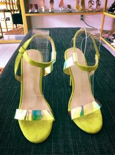 giày sandanl phối bêka gót nhọn