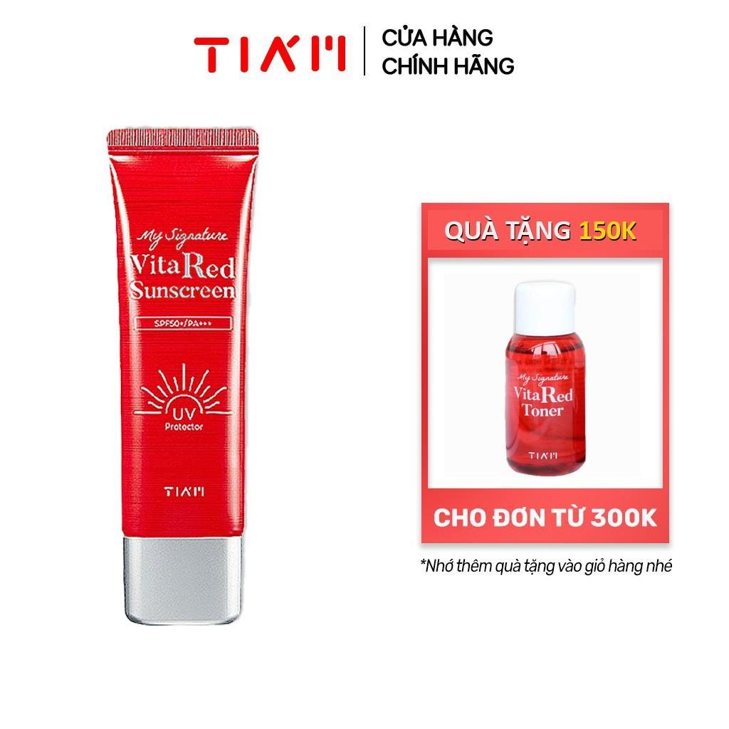 Kem chống nắng dưỡng trắng Tia'm My Signature Vita Red Sunscreen với SPF 50/PA+++ 50ml