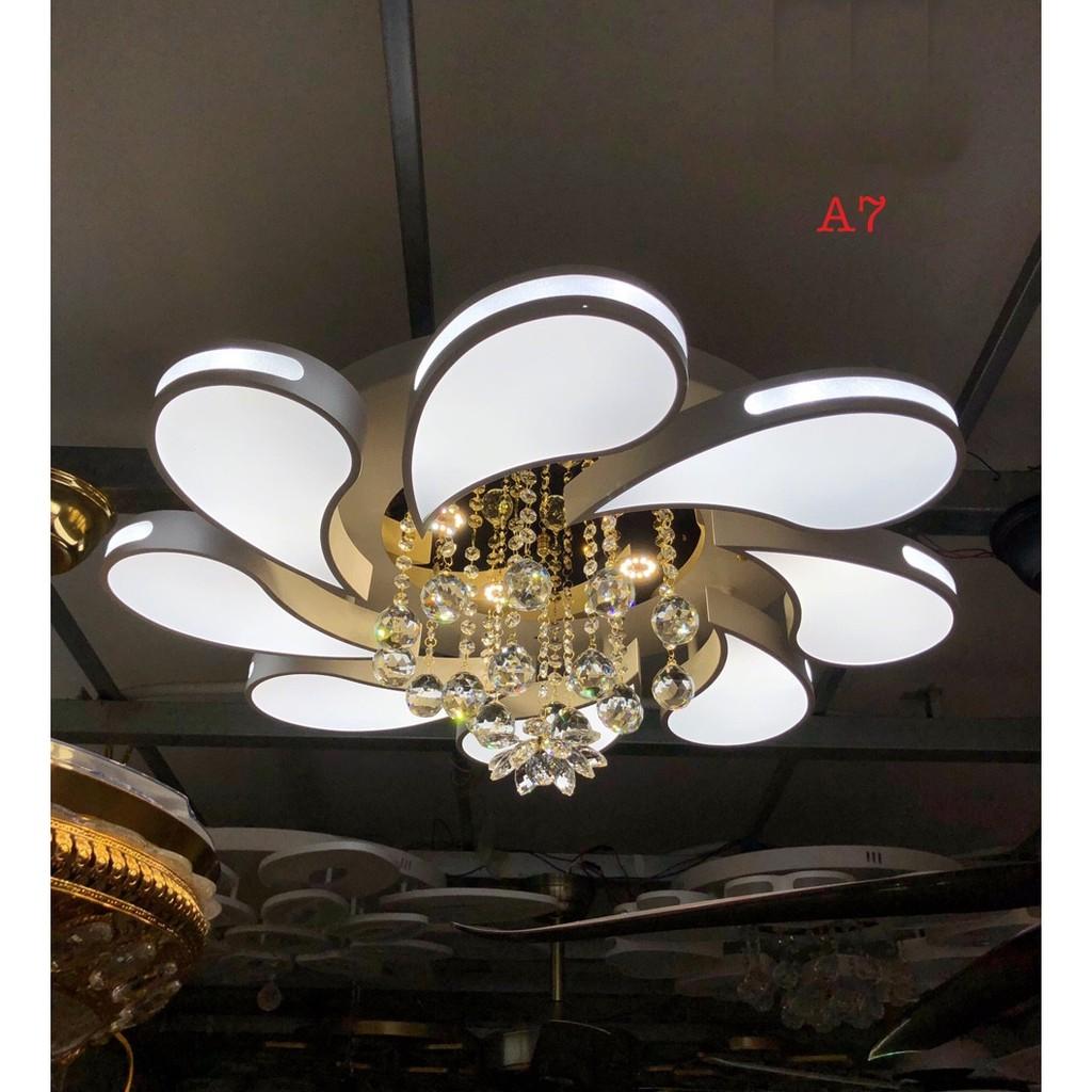 Đèn ốp trần led trang trí phòng khách A3 kiểu mẫu hiện đại,ánh sáng led 3 chế độ,có điều khiển từ xa