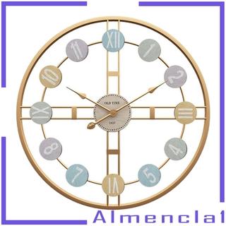 Đồng Hồ Treo Tường Chất Liệu Kim Loại Mạ Vàng Almencla1