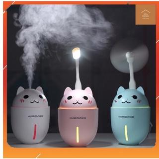 Máy Phun Sương, Tạo ẨM trong phòng Điều Hòa , Khuếch Tán Tinh Dầu Hình Mèo Cute