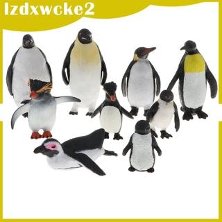 GamZine 9 PCS Wild Penguin Family Model Figure Figurine Toy Home D cor Assorted Pose