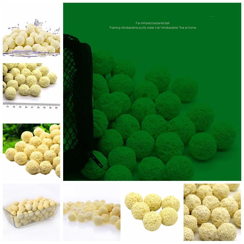 Delicatelife10pcs Aquarium Porous Ceramic filter media Net Bag- Biological ball fish tank