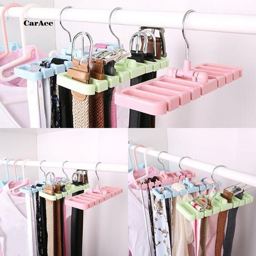 CARA_Closet Belt Storage Rack Rotating Hanger Wardrobe Scarf Tie Organizer Holder
