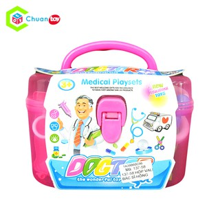 Hộp đồ chơi Vali bác sĩ ChuanToy hồng DCA128