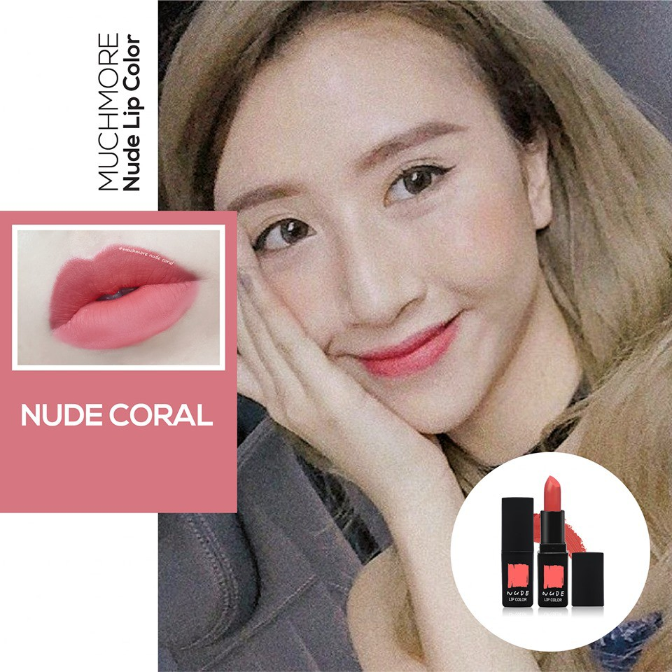 Son thỏi lì MUCHMORE NUDE LIP COLOR-2018 | Shopee Việt Nam