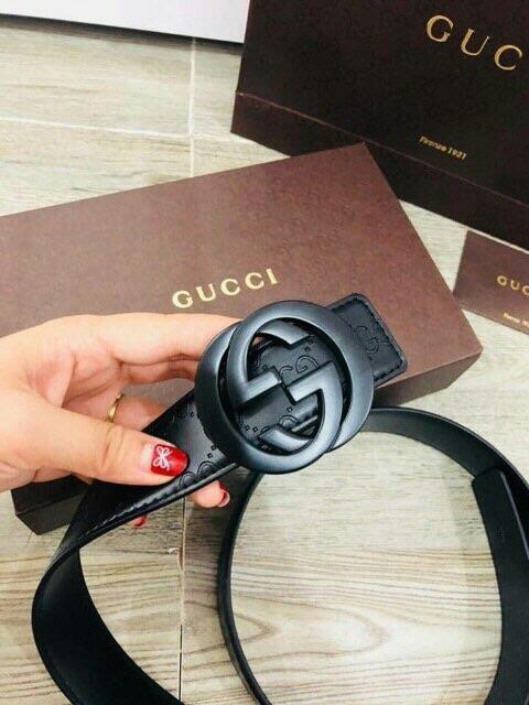 Set dây lưng Gucci 2 mặt mẫu mới full hộp+ túi giấy