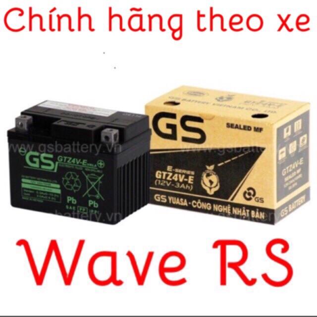 Ắc quy xe Wave RS chính hãng GS mQ.shop