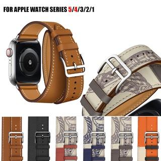 Dây Đeo Da Kiểu Dáng Thời Trang Dành Cho Đồng Hồ Thông Minh Apple Watch 44mm 38mm 40mm 42mm Iwatch 6 SE 5 4 3 2 1