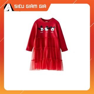 ❤FREE SHIP❤ HÀNG MỚI VỀ |Váy Za.ra Mickey Đỏ Phối Ren Chân Dưới| Váy Za.ra Mickey Đỏ Phối Ren Chân Dưới Siêu Đẹp