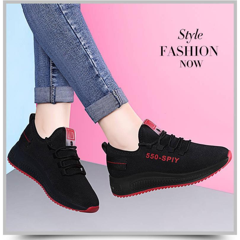 Giày Thể thao Nữ Chun Dây Hàng Siêu HOT Mẫu Mới Cực Êm (Giá Sỉ Siêu Rẻ)