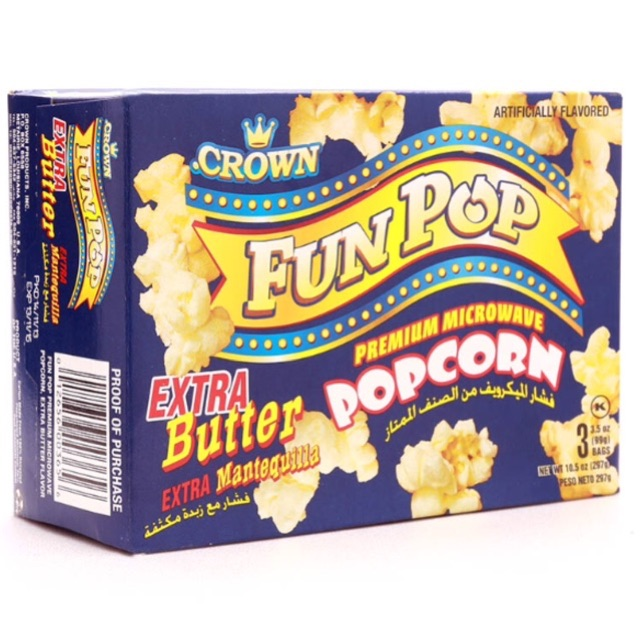 Bắp bung vị tự nhiên Fun Pop Crown 297g