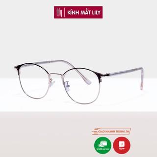 Gọng kính nữ kim loại Lilyeyewear mắt tròn thanh mảnh nhẹ nhàng màu sắc thời trang 1030