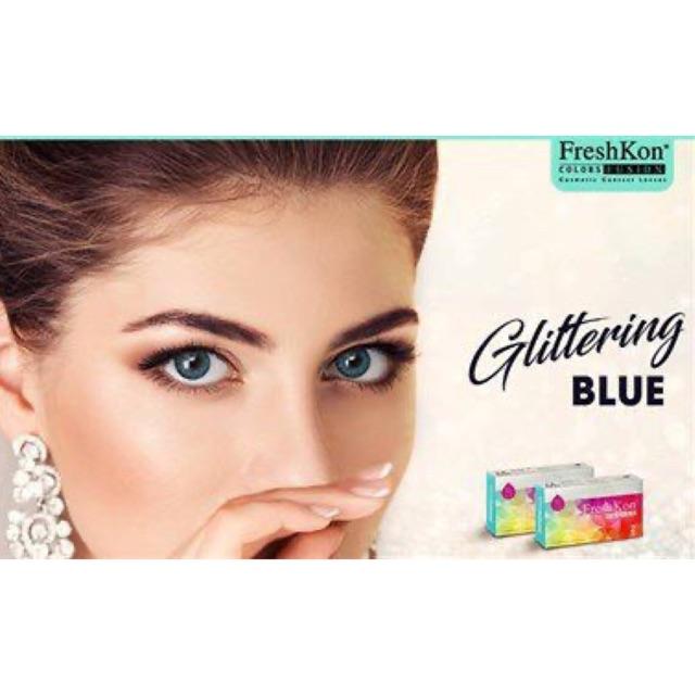 Kính áp tròng Freshkon Colors Fusion 3 tháng – Glittering Blue