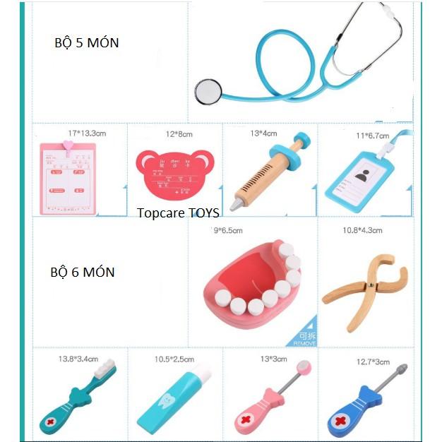 Bộ đồ chơi bác sĩ Nha khoa – Khám răng bằng gỗ