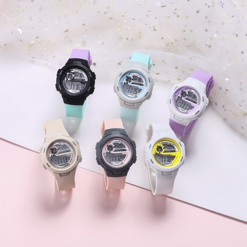 Đồng hồ điện tử thể thao thời trang unisex (nam - nữ) dây Silicon cao cấp AOSUN PKHRAS004 (42 mm)